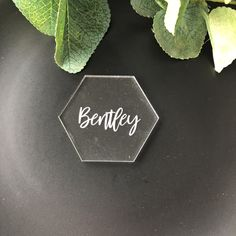 Hexagon Table Place Name Wedding Place Names, Wedding Places, Wedding Day, Acrylic Table, Place Settings, Custom Design, Place Cards, Table Decorations, Handmade Gifts