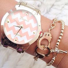 Cute watch and bracelet