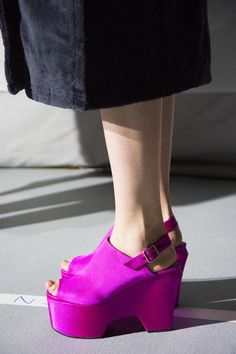 A detailed look at the shoes at Dries Van Noten Spring 2016