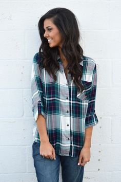 Plaid to the Bone Blouse from Shop Southern Roots TX
