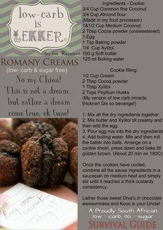 Low Carb Recipe ROMANY CREAMS