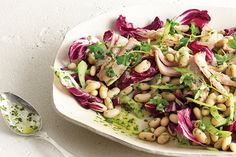 Find the recipe for White Bean and Tuna Salad with Radicchio and other bean recipes at Epicurious.com