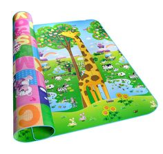 Double-side Waterproof Baby Play Mat Soft Environment-friendly Toddler Play Mat (Dinosaur + Zoo): Amazon.co.uk: Baby