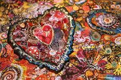 Collage Heart by Peony and Parakeet