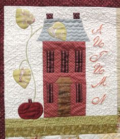 Autumn House block 1 quilted