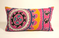 Suzani pillow from MaterialRecovery on Etsy