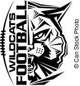 Vectors Illustration Of Wildcats Football Team Design With Mascot