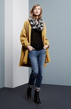 Free shipping and returns on Eileen Fisher Kimono Coat, Tee & Boyfriend Jeans at Nordstrom.com.