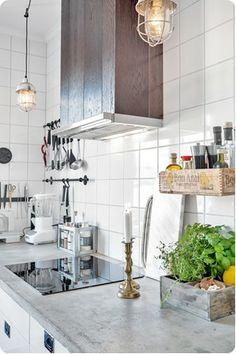 white kitchen industrial