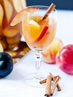 Cinnamon Apple Sangria: A Delicious Treat for Fall via @MyDomaine