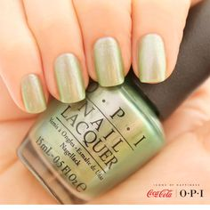 Having Visions of Georgia Green? We are! #OPICokeStyle