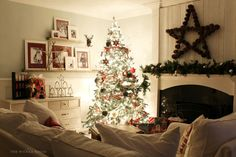 I have a little routine I do everyday at dusk.   I go around the house and turn on all of our Christmas lights.   I love how warm and cozy...