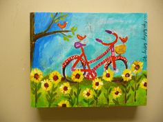 Oh Happy Happy Day original acrylic painting by evesjulia12