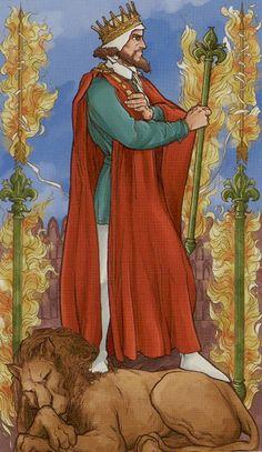 Le roi de bâtons - Universal Wirth Tarot par Giordano Berti & Stefano Palumbo