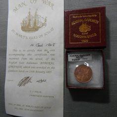 ADMIRAL GARDNER 1808 E. INDIA CO 10 CASH MADREAS PRESIDENCY SHIPWRECK Coin #AC1 $48.95