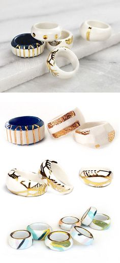 TheCarrotbox.com modern jewellery blog : obsessed with rings // feed your fingers!: Amber E Lea