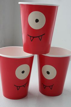 Made out of red solo cups for Madi's Yo Gabba Gabba party