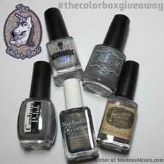 Manna's Manis: The Color Box: Grey ALL The Things Review & Giveaway! #thecolorboxgiveaway