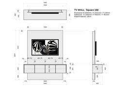 Fernseher ohne Kabel-Chaos elegant an die Wand bringen: TV WALL Square ist die hochwertige TV Wand mit integriertem Sideboard für ein perfektes Heimkino-Erlebnis. TV Wand und Sideboard sind in zwei Standard-Größen und in 160 Farb- und...