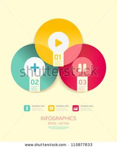 Modern Circle Design soft color template  / can be used for infographics / numbered banners/ graphic or website layout vector - stock vector