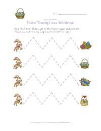 Easter Tracing Lines Worksheet - Help kids practice their fine motor skills.