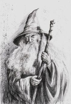 Gandalf the Grey by rysowAnia.deviantart.com on @DeviantArt