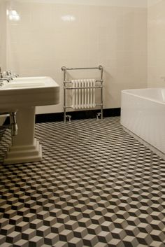 comme un air d 39 ternit en noir et blanc on pinterest cement tiles baroque and bathroom. Black Bedroom Furniture Sets. Home Design Ideas