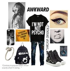 """""""Untitled #19"""" by lonelycherrio ❤ liked on Polyvore featuring Cult of Individuality, Bjørg, Moschino and Casetify"""