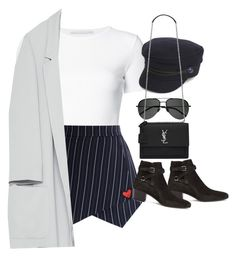 """""""Sem título #1500"""" by oh-its-anna ❤ liked on Polyvore featuring Rosetta Getty, Chicwish, Tommy Hilfiger, Zara and Yves Saint Laurent"""