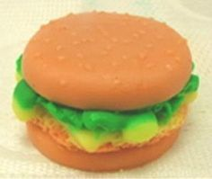 3D Hamburger Candle Mold or Soap Molds  Flexible by NaturalRepublic