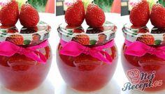 Domácí jahodová marmeláda   NejRecept.cz Pesto, Strawberry, Fruit, Med, Chemistry, Strawberry Fruit, Strawberries, Strawberry Plant