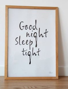 GOOD NIGHT minimal interior poster wall decoration by gumberrypl, zł50.00