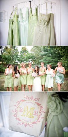 pistachio bridesmaids