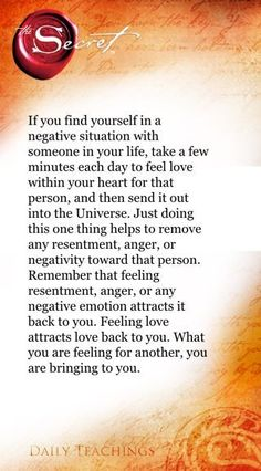 If you find yourself in a negative situation with someone in your life, take a few minutes each day to feel love within your heart for that person, and then send it out into the Universe. Just doing this one thing helps to remove any resentment, anger, or negativity toward that person. Remember that feeling resentment, anger, or any negative emotion attracts it back to you. Feeling love attracts... Yeah baby, this is totally #WildlyAlive! #selflove LEARN MORE → www.WildlyAliveWeightLoss.com