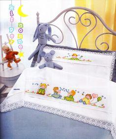 ΣΤΑΥΡΟΒΕΛΟΝΙΑ-CROSS STITCH - NASIA: Παιχνιδιάρικα σχέδια για παιδικά σεντονάκια, εύκολα και πρωτότυπα.