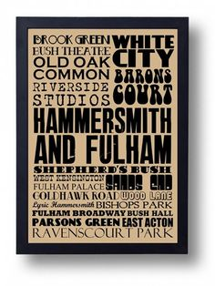 Hammersmith and Fulham typography