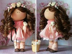 Interior doll Tilda doll Nursery doll Bambole Fabric doll