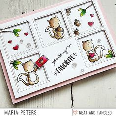 To play with the incredible 'My Favorite Nut' Stamp Set is pure fun. I'm so in love with these little cuties which are designed by talented Elena @mom2sofia for @neatandtangled I colored all motive with Zig Brush Pens and Distress Inks. Wish you a wonderful day!!! ❤❤❤❤❤ #handmade #handmadecard #handmadecards #card #cardmaking #papercraft #papercrafts #papercrafting #stamping #diecut #diecutting #watercolor #watercolour #watercolors #neatandtangled #neatandtangle