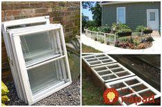 Perfektné nápady, ako využiť staré okná z vášho domu v záhrade, na terase, alebo na skrášlenie balkónu.