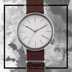 Combination of classic watches with modern colors, textures and materials.   Magnus Silver Burgundy by Komono