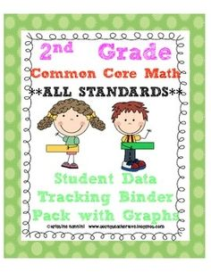 This is a bundled document that contains ALL 2nd Grade Math Common Core Standards- Student Data Tracking Binder/Folder with graphs, I can checklists and more!!