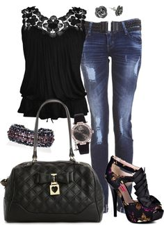 """""""friday night out"""" by tina-harris ❤ liked on Polyvore"""