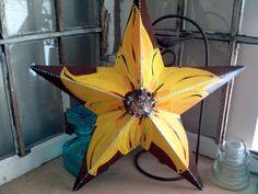 Spangled Stars  Sunflower Metal StarFlower by spangledstars, $68.00