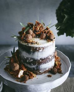 Triple Layer Pumpkin Chocolate Chip Cake from http://www.whatsgabycooking.com