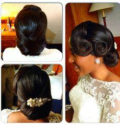 Nigerian wedding beautiful & glamorous bridal updo