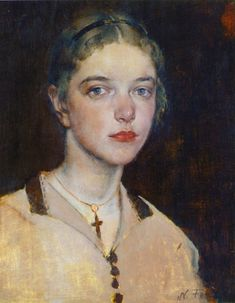 The Artist's Daughter - Nikolai Fechin , 1928 Russian, 1881 - 1955 Russian Painting, Russian Art, Figure Painting, Painting & Drawing, Portrait Art, Face Art, American Artists, Figurative Art, Amazing Art