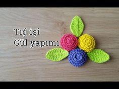 Tig isi popcorn cicek yapimi/Örgü Modelleri - YouTube Crochet Hair Accessories, Crochet Hair Styles, Crochet Flower Tutorial, Crochet Flowers, Crochet Designs, Crochet Patterns, Crochet Blouse, Crochet Videos, Flower Applique