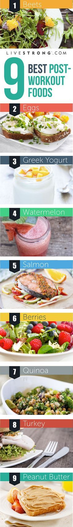 Refuel with these 9 post-workout foods! #fitness #fuel