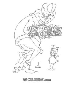 how the grinch stole christmas coloring pages 353 free printable