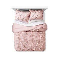 Add a subtle touch of textural dimension to enhance your bedroom decor with the Pinched Pleat Duvet Cover Set from Threshold. The pleated fabric has multiple pin tucks for ultimate softness and texture. Home Renovation, Dream Bedroom, Bedroom Girls, Master Bedroom, Grey Bedrooms, My New Room, Luxury Bedding, Pink Bedding, Modern Bedding
